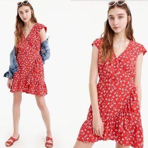 J.Crew Mercantile faux-wrap mini dress size 4